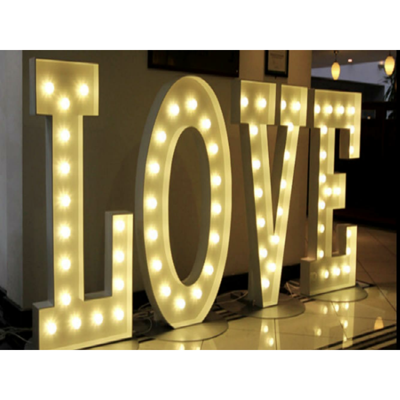 Giant Led Love Letter Hire Prestige Event Hire