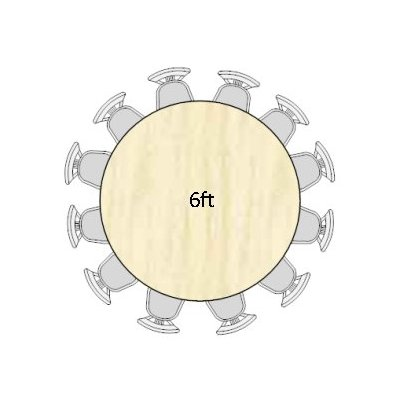 Trestle Tables And Round Tables How Many Does Each Sit